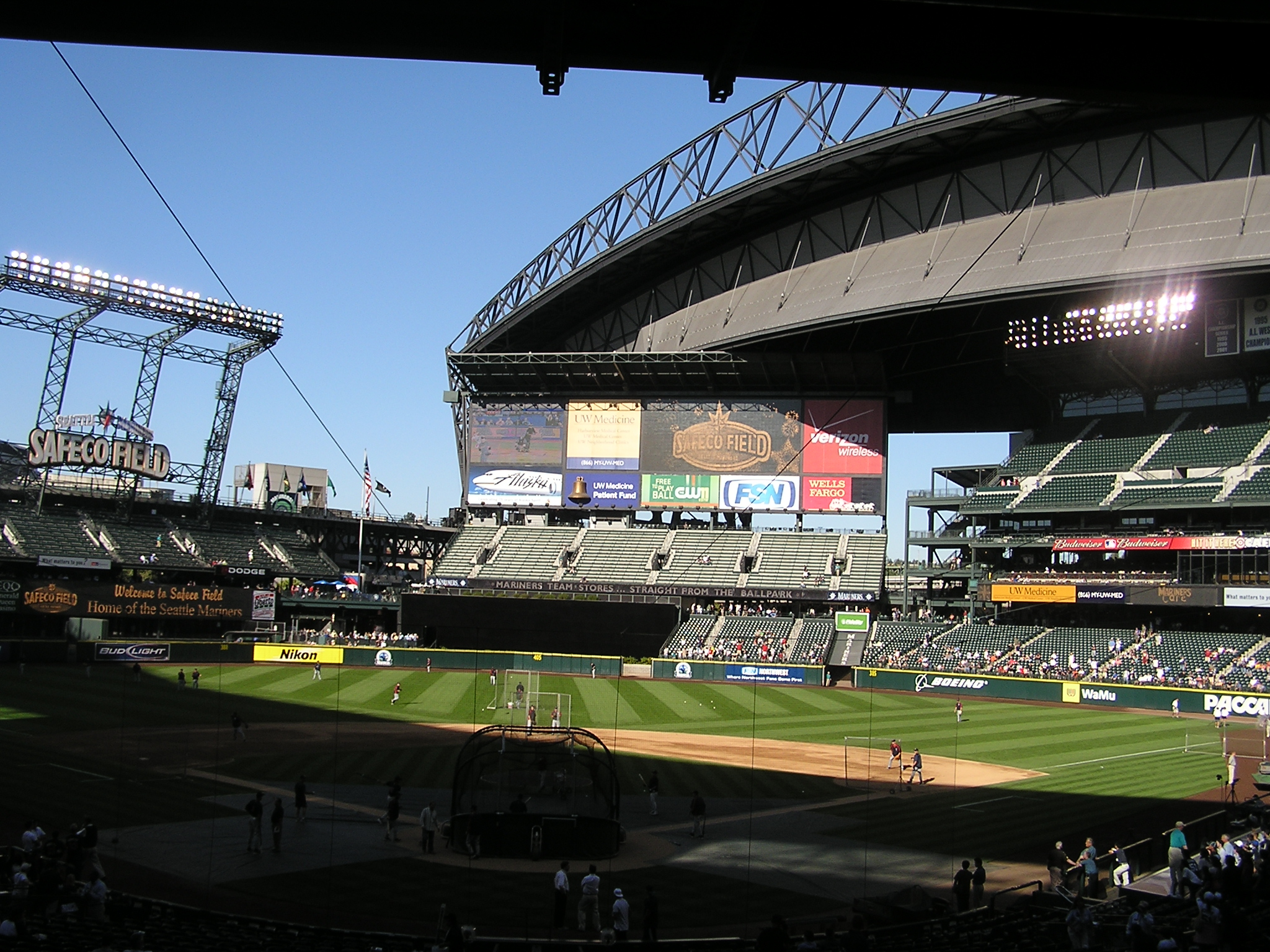 My first view of Safeco Field, Seattle Wa