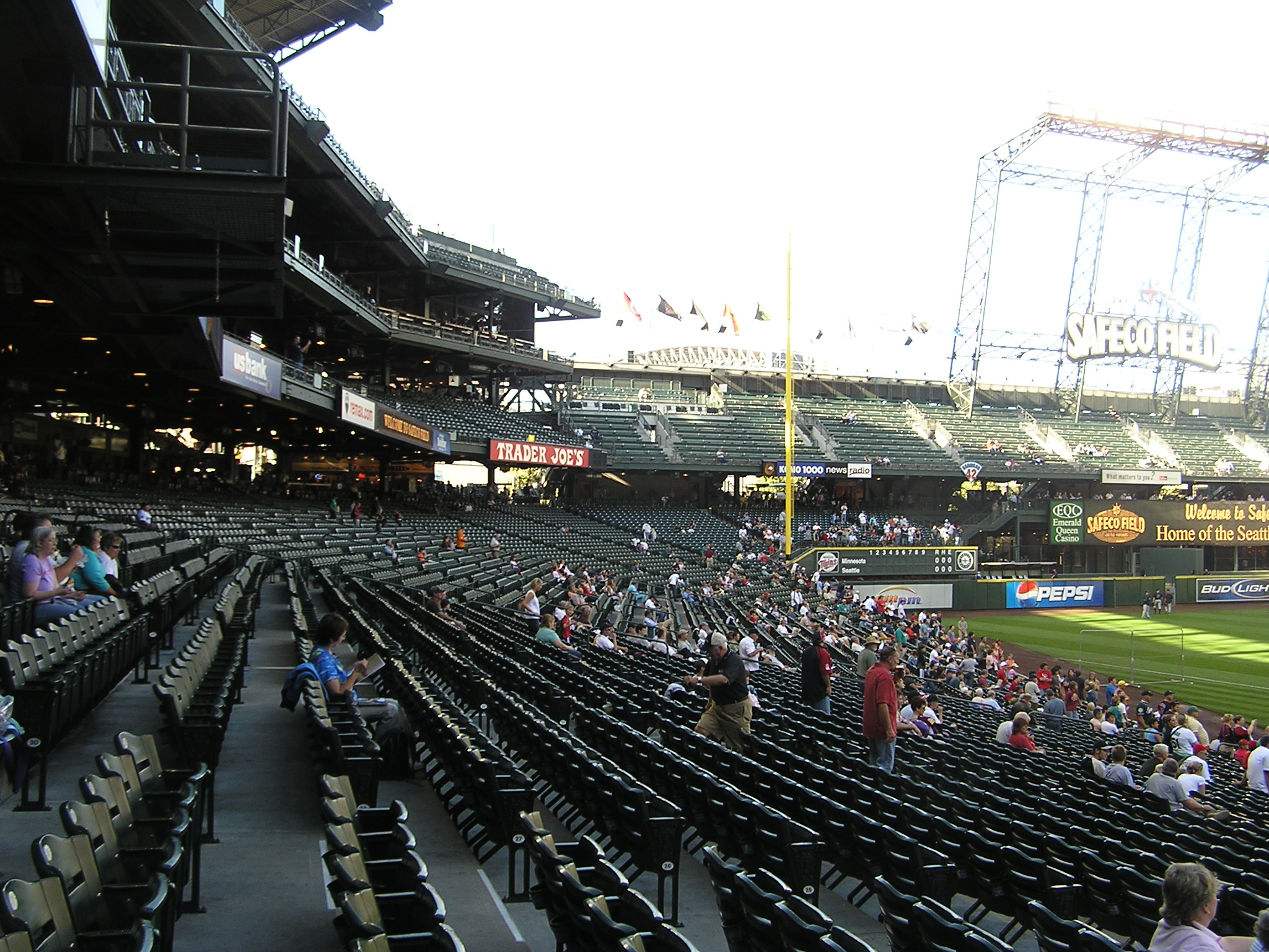 Standing around the Dugouts - Safeco Field