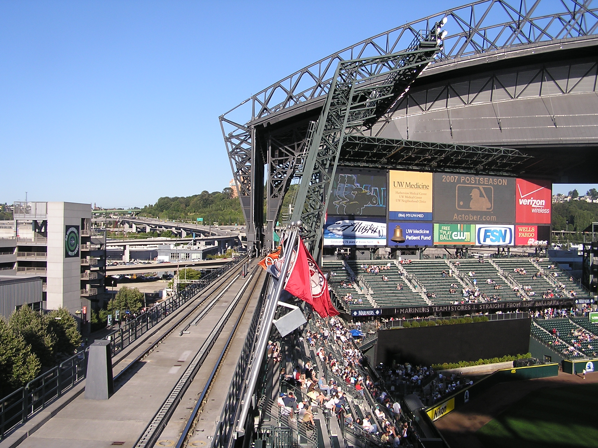 The tracks the roof rolls on-Safeco Field,Seattle