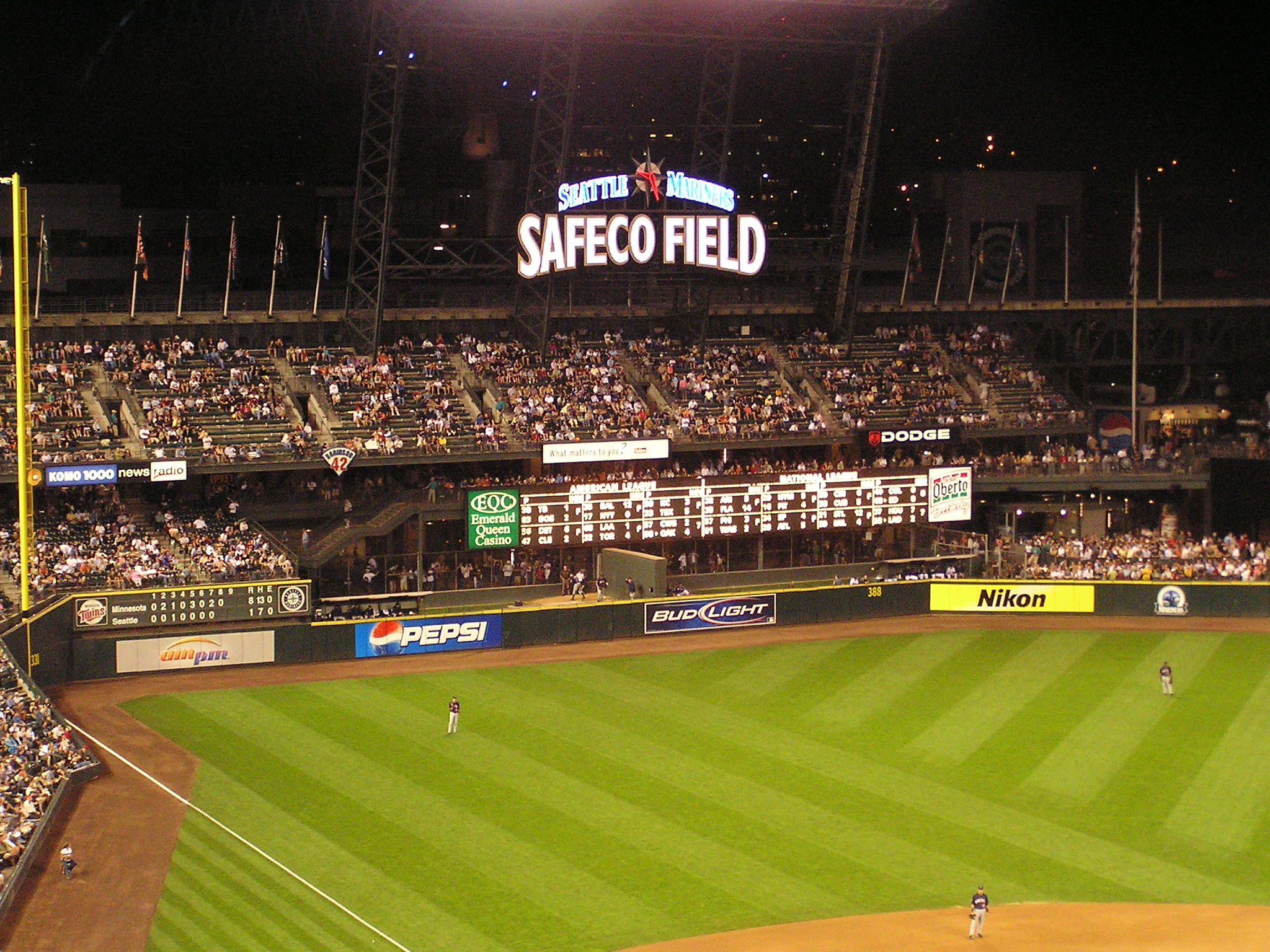 Out of town Board - Safeco Field