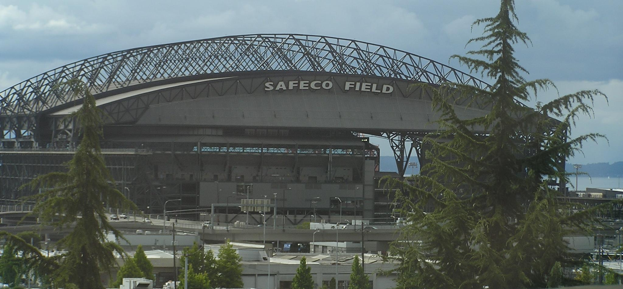 A view of Safeco from I-90