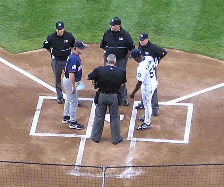 Exchanging the Line Ups - Safeco Field, Seattle